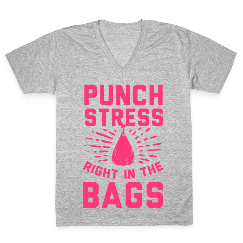 Punch Stress in The Bags! V-Neck Tee Shirt