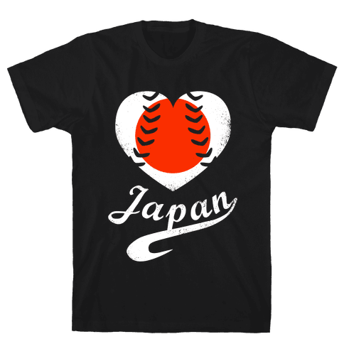 Japan Baseball Love  Mens T-Shirt