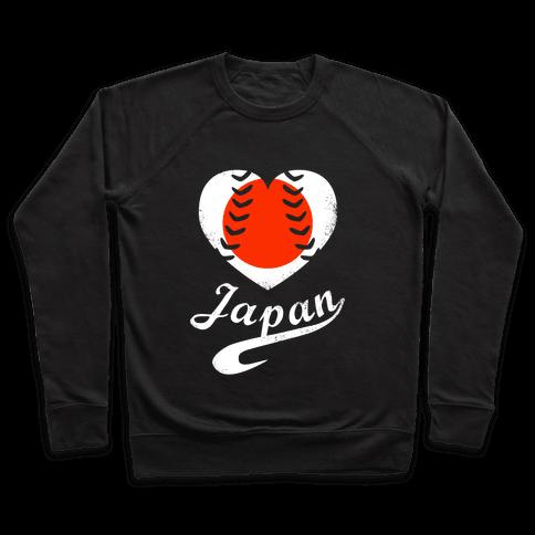 Japan Baseball Love  Pullover