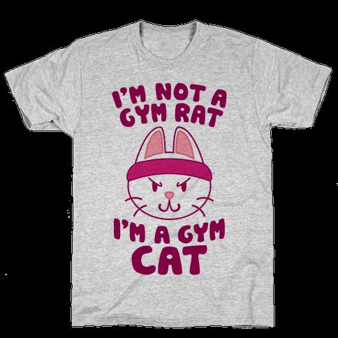 I'm A Gym Cat Mens T-Shirt