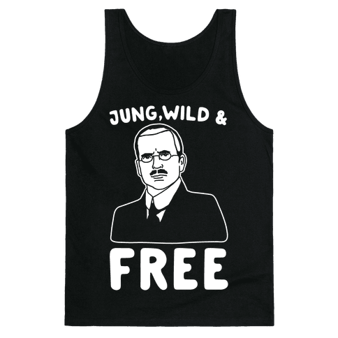 Jung Wild & Free Parody White Print Tank Top