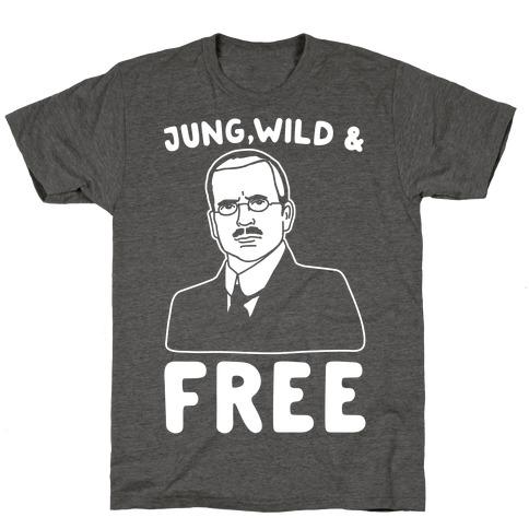 Jung Wild & Free Parody White Print T-Shirt