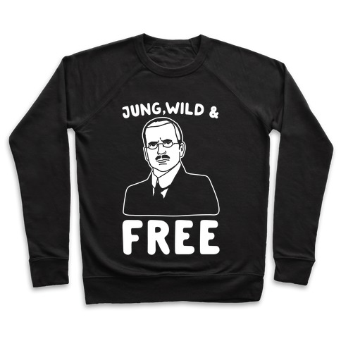 Jung Wild & Free Parody White Print Pullover