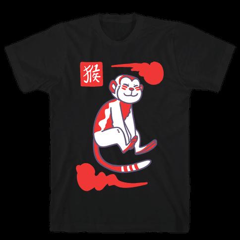 Monkey - Chinese Zodiac Mens T-Shirt