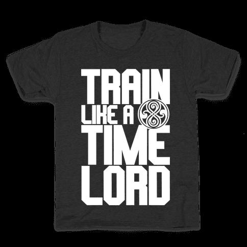 Train Like A Time Lord Kids T-Shirt