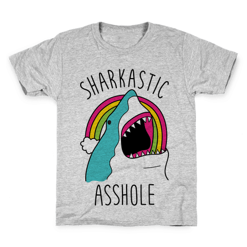 Sharkastic Asshole Kids T-Shirt