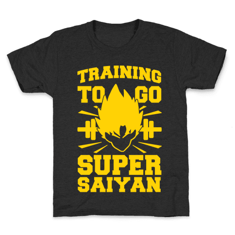 Training to Go Super Saiyan Kids T-Shirt