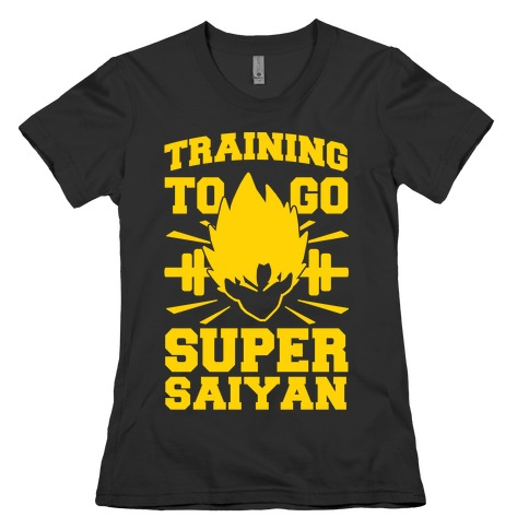 Training to Go Super Saiyan Womens T-Shirt