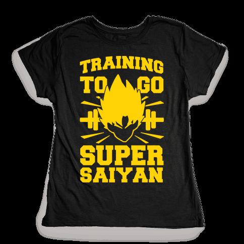 Training to Go Super Saiyan Womens T-Shirt