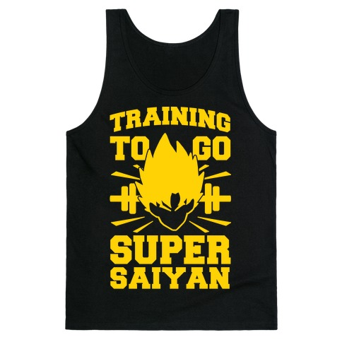 Training to Go Super Saiyan Tank Top