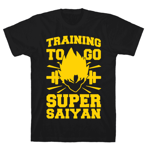 Training to Go Super Saiyan Mens T-Shirt