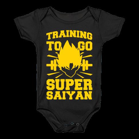 Training to Go Super Saiyan Baby Onesy