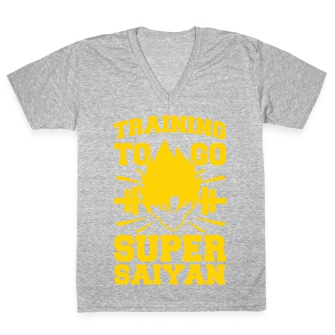 Training to Go Super Saiyan V-Neck Tee Shirt