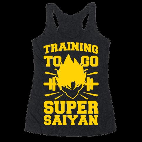 Training to Go Super Saiyan Racerback Tank Top