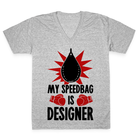 My Speedbag is Designer V-Neck Tee Shirt