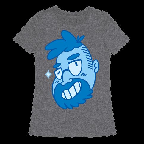 Cute Scruffy Dude (Blue) Womens T-Shirt