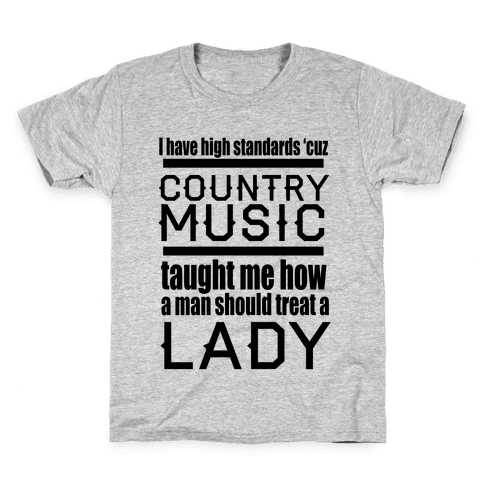 Country Music Taught Me Kids T-Shirt