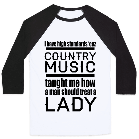 Country Music Taught Me Baseball Tee