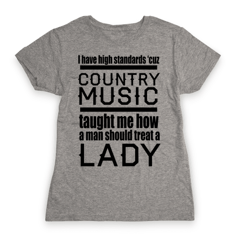 Country Music Taught Me Womens T-Shirt