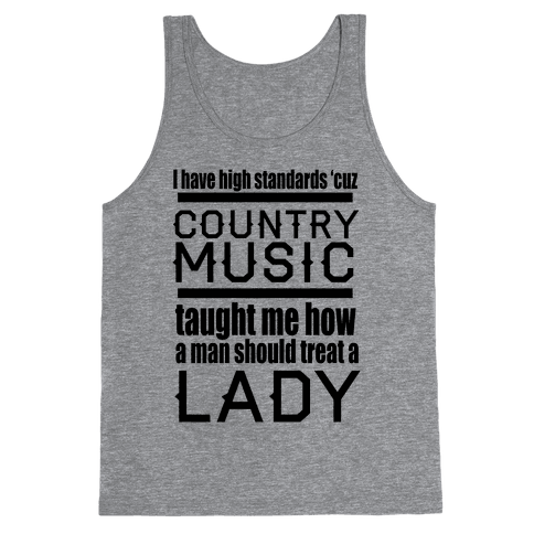 Country Music Taught Me Tank Top