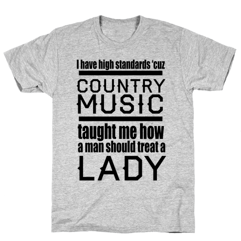 Country Music Taught Me Mens T-Shirt