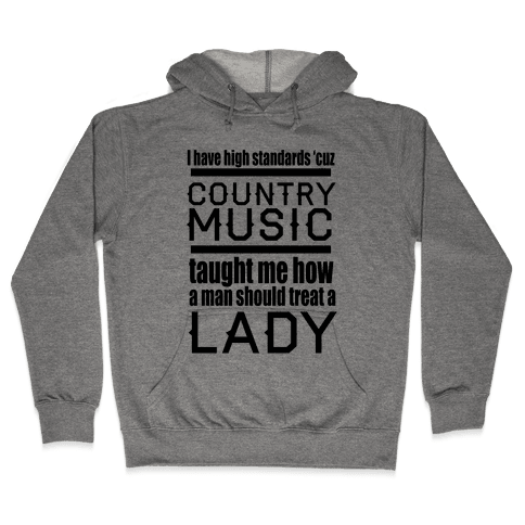 Country Music Taught Me Hooded Sweatshirt