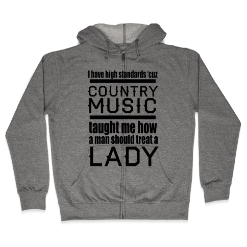 Country Music Taught Me Zip Hoodie
