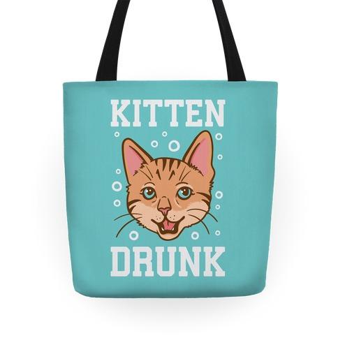 Kitten Drunk Tote