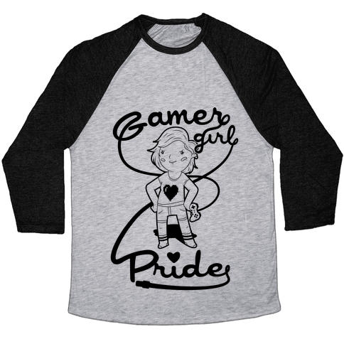 Gamer Girl Pride Baseball Tee