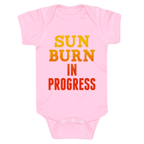 Sunburn In Progress Baby Onesy