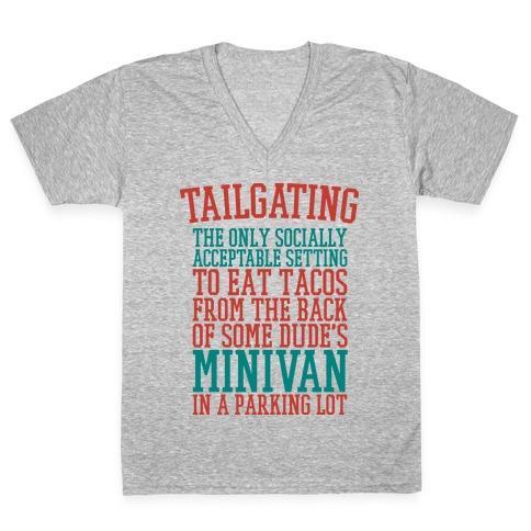 Tailgating V-Neck Tee Shirt