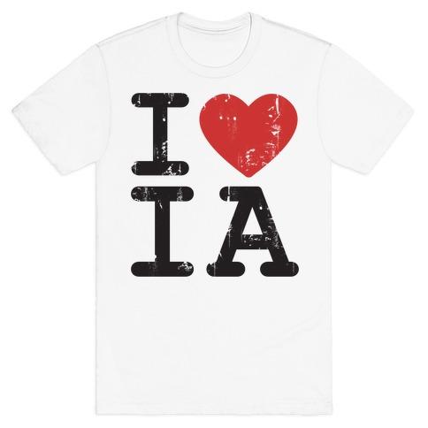 I Love Iowa Mens T-Shirt