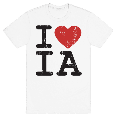 I Love Iowa Mens T-Shirt