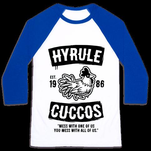 Hyrule Cuccos Baseball Tee