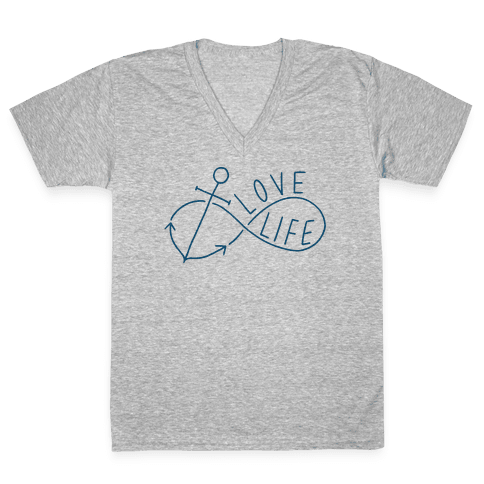Love Life (Anchor/Infinity) V-Neck Tee Shirt
