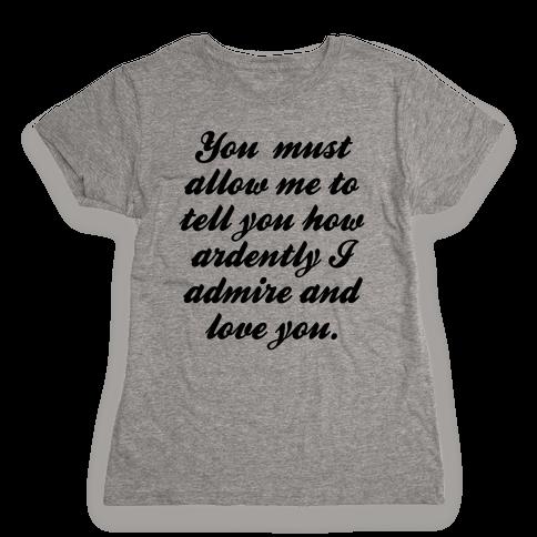 Mr. Darcy Womens T-Shirt