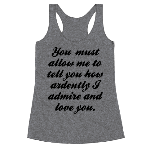 Mr. Darcy Racerback Tank Top