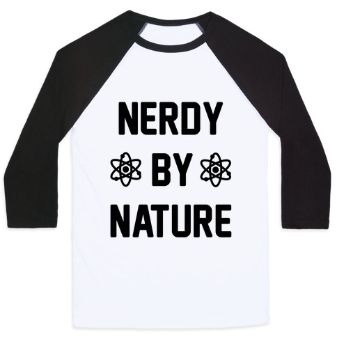 Nerdy By Nature Baseball Tee