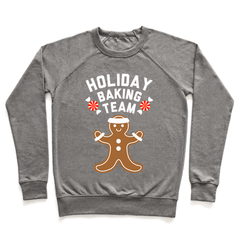Holiday Baking Team (White Ink) Pullover