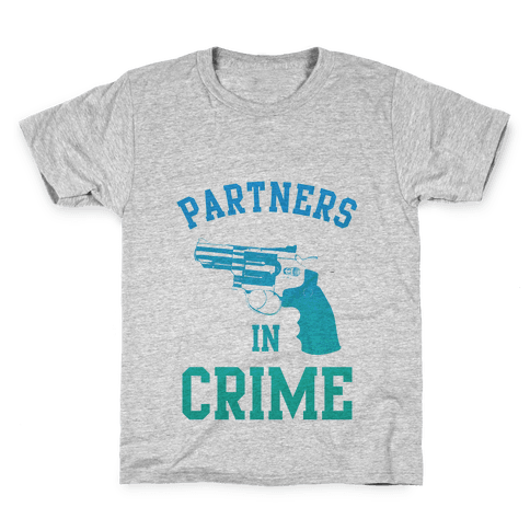 Partners in Crime (Blue) Kids T-Shirt