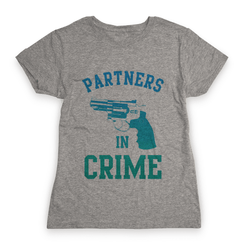 Partners in Crime (Blue) Womens T-Shirt
