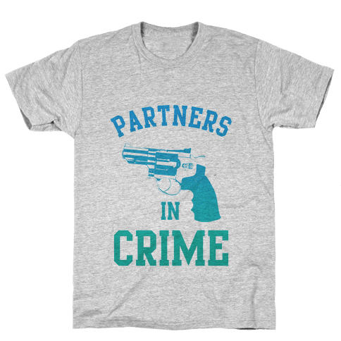 Partners in Crime (Blue) Mens T-Shirt