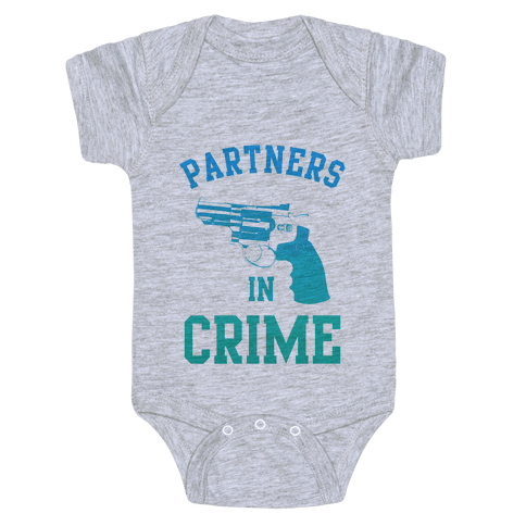 Partners in Crime (Blue) Baby Onesy