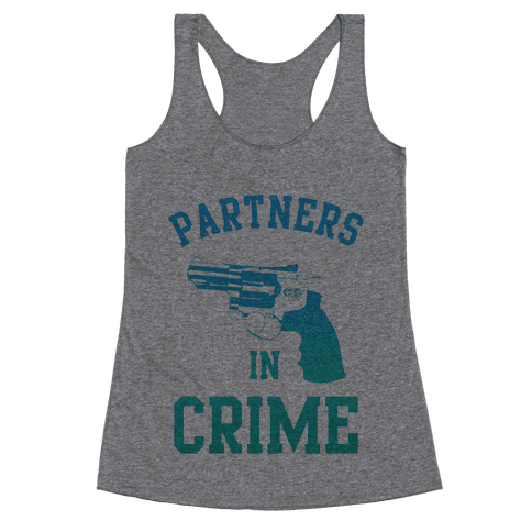 Partners in Crime (Blue) Racerback Tank Top