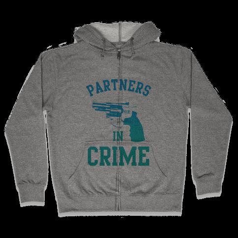 Partners in Crime (Blue) Zip Hoodie