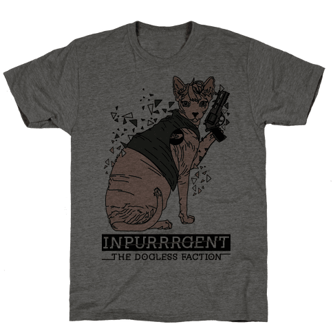 Inpurrrgent Cat Mens T-Shirt