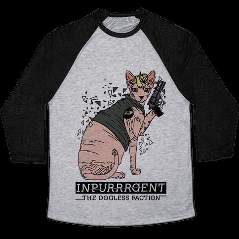 Inpurrrgent Cat Baseball Tee