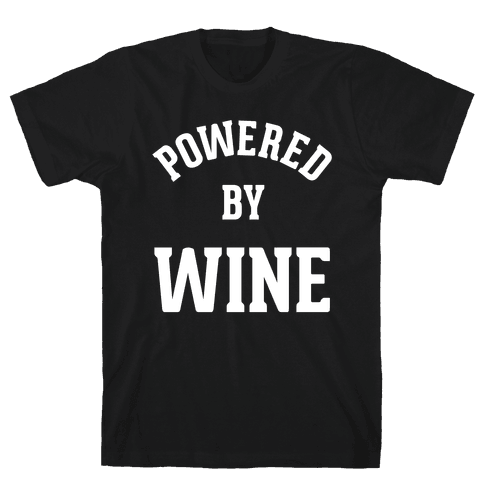 Powered By Wine Mens T-Shirt