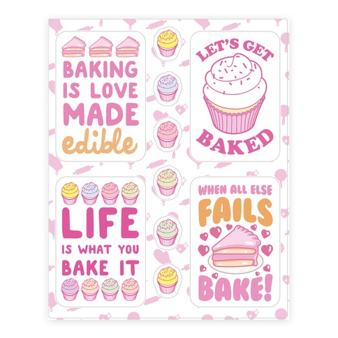 Cute Baking  Sticker/Decal Sheet