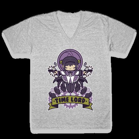 Time Lord Homura Akemi V-Neck Tee Shirt